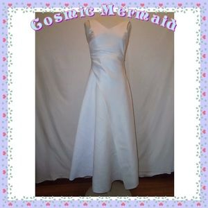 Dresses & Skirts - Sz❤️10⭐️Modest White Bow Back Wedding Dress⭐️